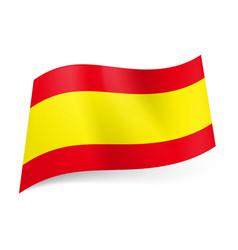 national flag of spain wide yellow stripe between vector image