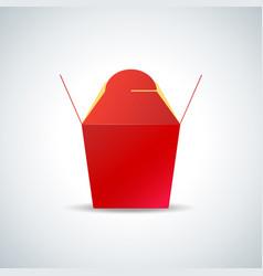 Noodle paper box mockup vector