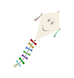 paper kite with smiling face vector image
