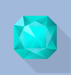 perfect aquamarine icon flat style vector image