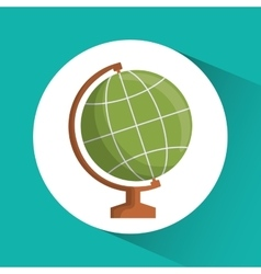 Planet icon Education concept Flat vector