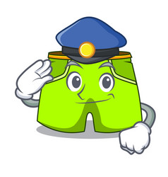 Police character style short pant for hangout vector