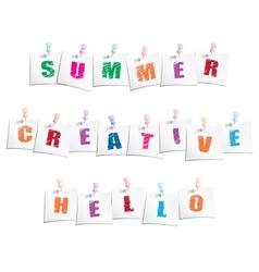 Positive slogans vector image