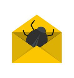 post virus icon flat style vector image