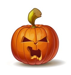 Pumpkins Angry 3 vector image