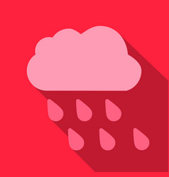 Rain icon in trendy flat style isolated vector