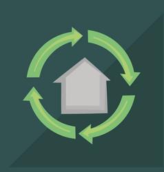 Recycle symbol design vector