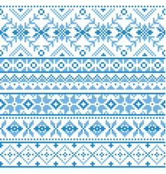 Scottish fair isle traditional pattern vector