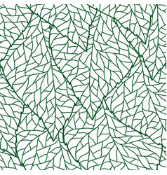 Seamless nature pattern with stylized green leaves vector