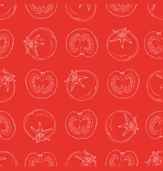 seamless pattern with tomatoes vector image