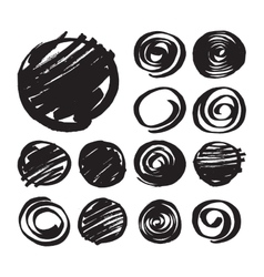 Shaded circles and spiral design elements vector