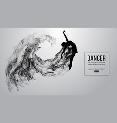 Silhouette of a dencing girl woman ballerina vector