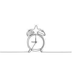 single continuous line drawing retro classic vector image