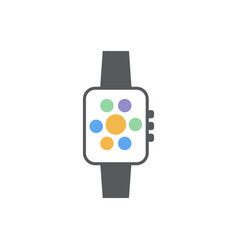 smartwatch icon design template isolated vector image