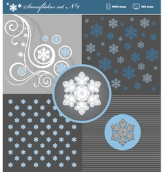 Snowflakes set 2 vector image