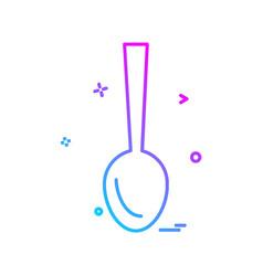 spoon icon design vector image