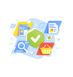 success business tasks icons vector image