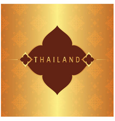 Thailand frame thai design copper background vector