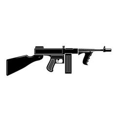 Thompson machine gun design element for logo vector