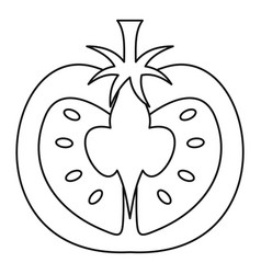 tomato icon outline style vector image