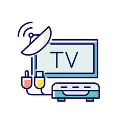 Tv tuner rgb color icon vector