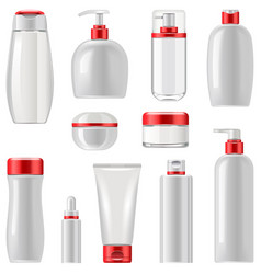 unlabeled cosmetic packaging set 3 vector image