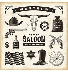 Vintage Western Set vector image