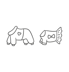 Warm clothes for dogs canine jumpsuit and dress vector