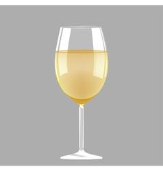 White wine glass vector image