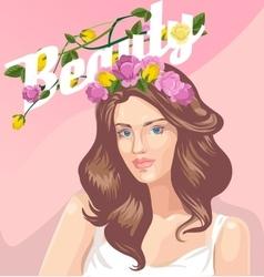 Wonderful girl vector