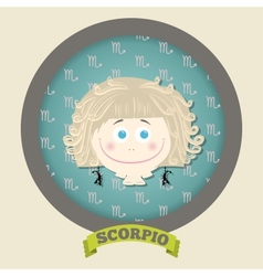 Zodiac signs collection Cute horoscope - SCORPIO vector image
