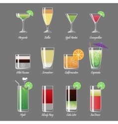 Alcoholic cocktails Margarita vector image vector image