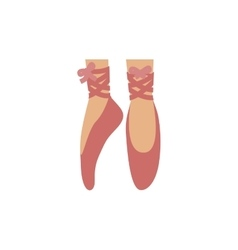 Colorful with ballet dance shoes vector