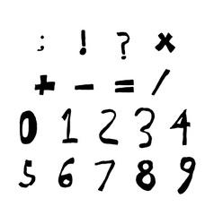 Hand drawn child English alphabet Black Bold vector image