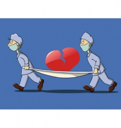 medical scene vector image