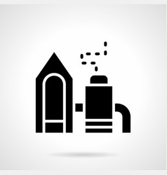Chemical waste processing glyph style icon vector