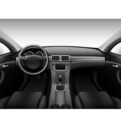 Dashboard - car interior vector image