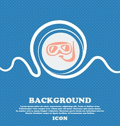 Diving sign Blue and white abstract background vector image vector image