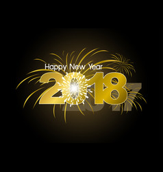 happy new year 2018 with fireworks design vector image vector image