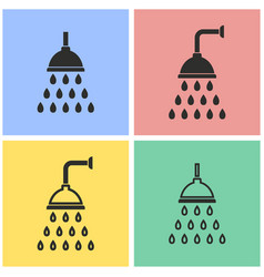 shower icon set vector image vector image