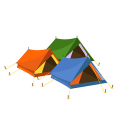 tents on white background vector image vector image