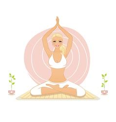 yoga lotos vector image vector image