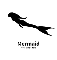a mermaid silhouette vector image vector image