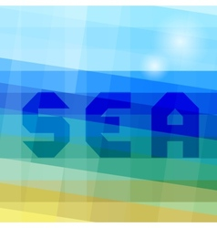 Abstract sea background vector image vector image