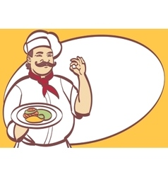 Cartoon Chef cool art for any design Eps vector image