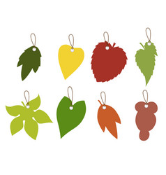 leaf silhouette tag collection vector image