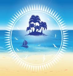 sand beach and small island vector image