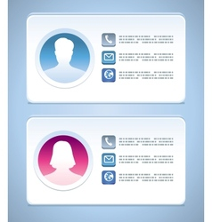 visit card templates vector image