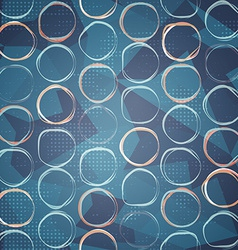 blue circle seamless pattern vector image