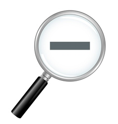 Magnifier zoom out vector